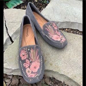 BareTraps Otella Embroidered Suede Loafers